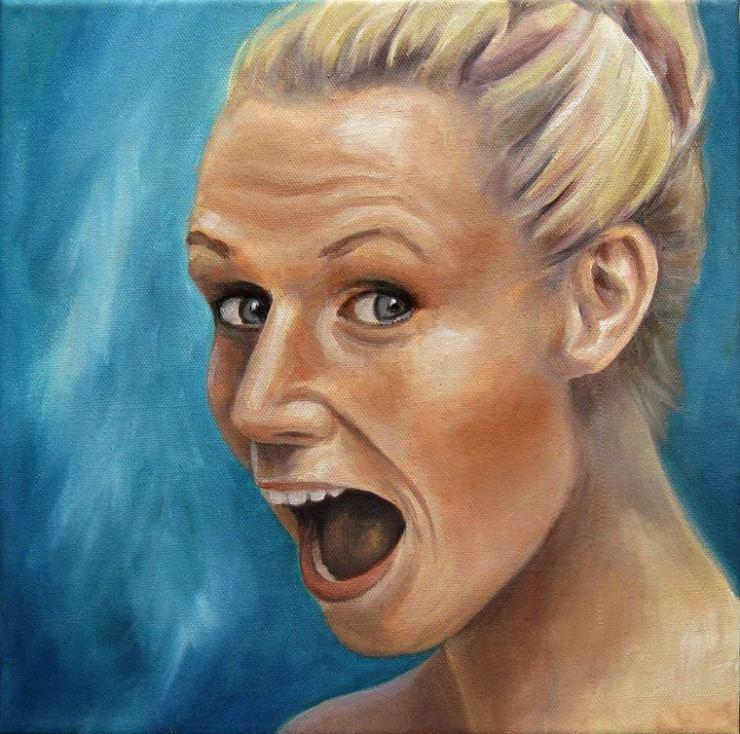 Nadine Portrait Ölbild Kunst Ölmalerei Gemälde Painting Malerei