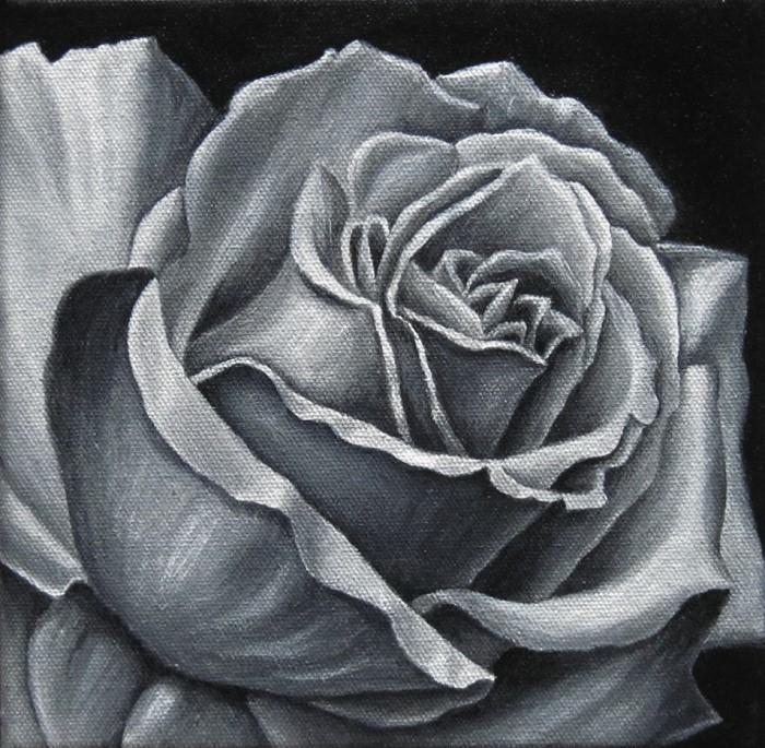 Rose acryl 010, Kunst, Malerei Ölgemälde Painting