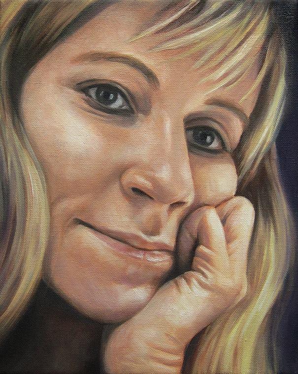 Janny, Portrait Kunst, Malerei Ölgemälde Painting