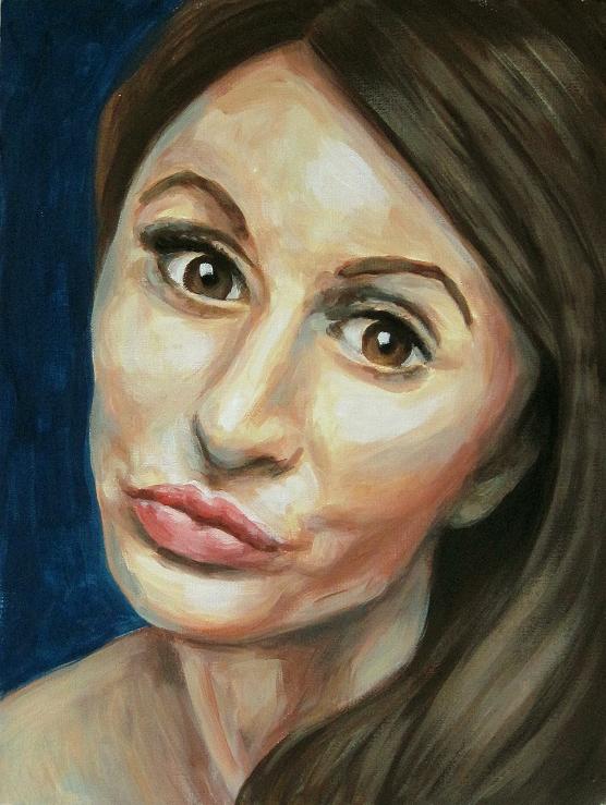 Lucy, Portrait, Malerei Gemälde Painting
