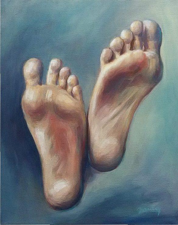 Füße, Kunst, Malerei Ölgemälde Painting