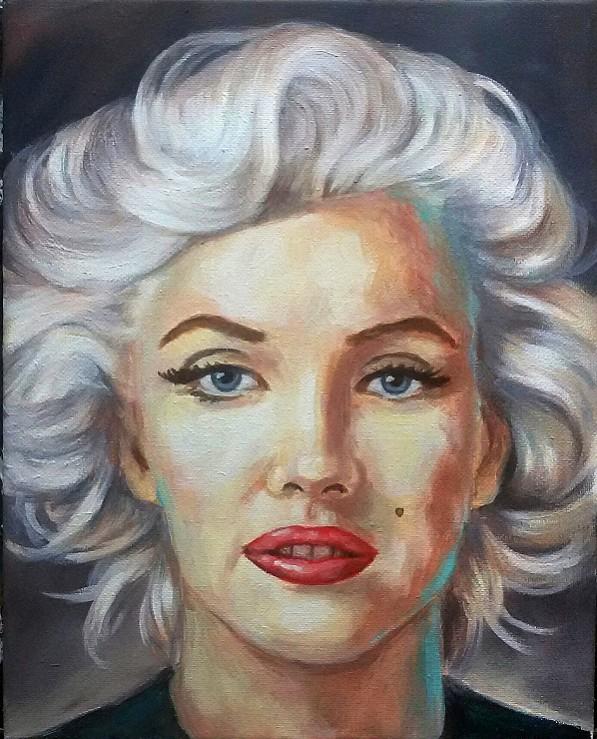 Marilyn Monroe Portrait Modern Kunst Malerei Gemälde Painting