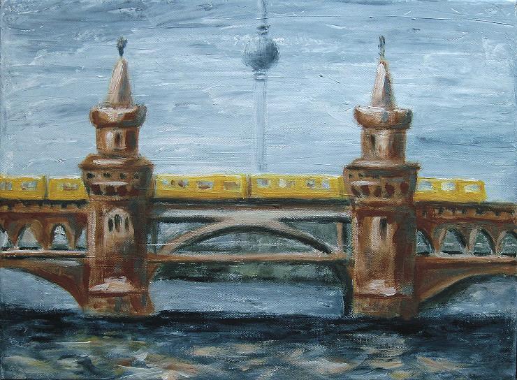 oberbaumbrücke, Kunst, Malerei Gemälde Painting