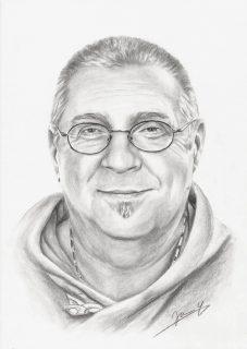 Männer Portrait Zeichnung vom Foto