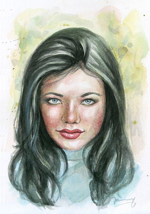 Girl Aquarell malerei kunst