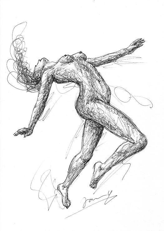 akt frau tänzerin scribble Art Zeichnung Kunst Malerei