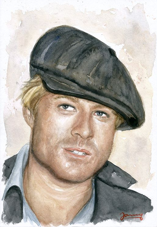 Robert Redford Aquarell Portrait Fanart