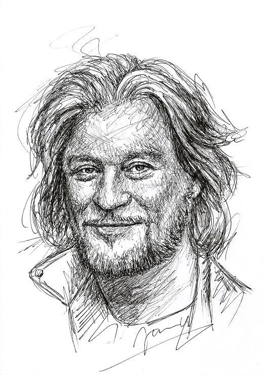 Daryl Hall Fanart Zeichnung Scribble Portrait