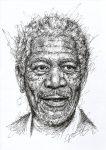 Morgan Freeman Scribble Portrait Fanart