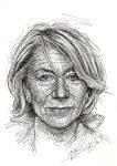 Helen Mirren Portrait Scribble Art Zeichnung