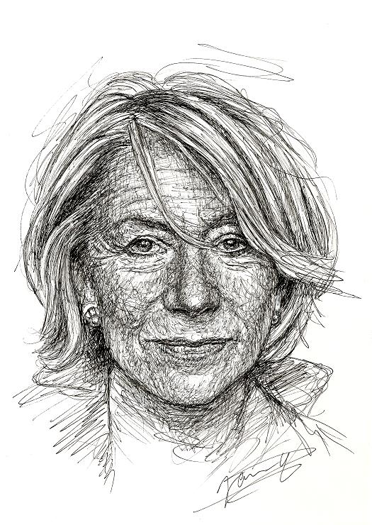 Helen Mirren Portrait Scribble Art Zeichnung