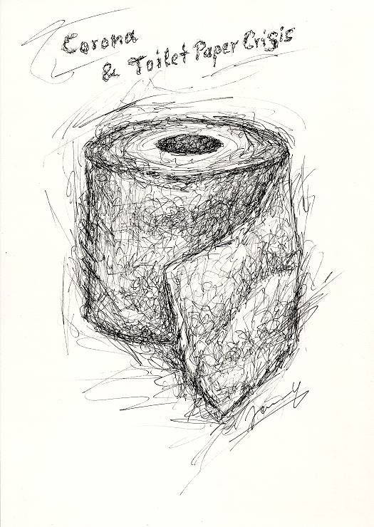 Klopapier Scribble Art Corona
