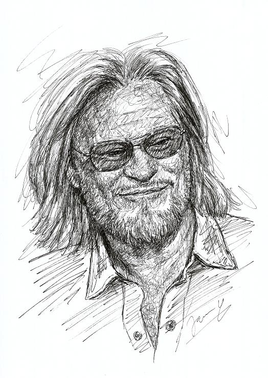 Daryl Hall Portrait Scribble