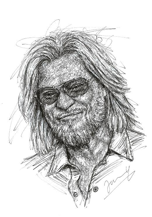 Daryl Hall Portrait Scribble Art