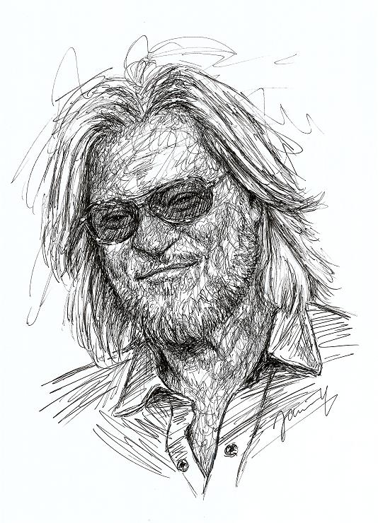 Drayl Hall Portrait Scribble Art