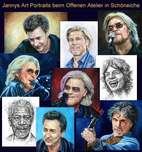 Jannys Art Portraits beim Offenen Atelier