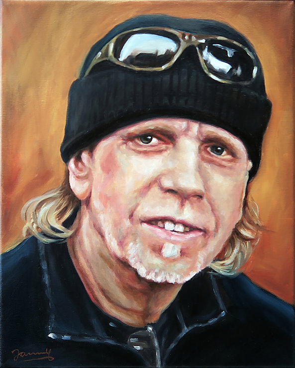 Daryl Hall T-Bone Portrait Oil Painting