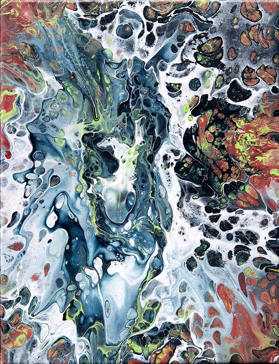 Fluid Painting Art Abstrakt Kunst