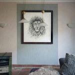 Löwe Scribble Zeichnung