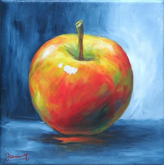 Apfel Bild Malerei moderne Kunst
