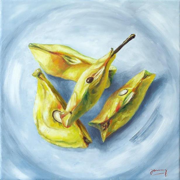Apfel Bild Stillleben Malerei Ölbild modern