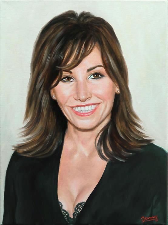 Gina Gershon Öl Bild Portrait Kunst Malerei Painting