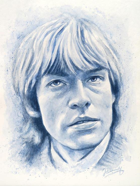 Brian Jones Rolling Stones aquarell portrait painting