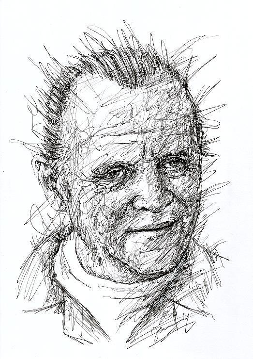 Anthony Hopkins Scribble Portrait