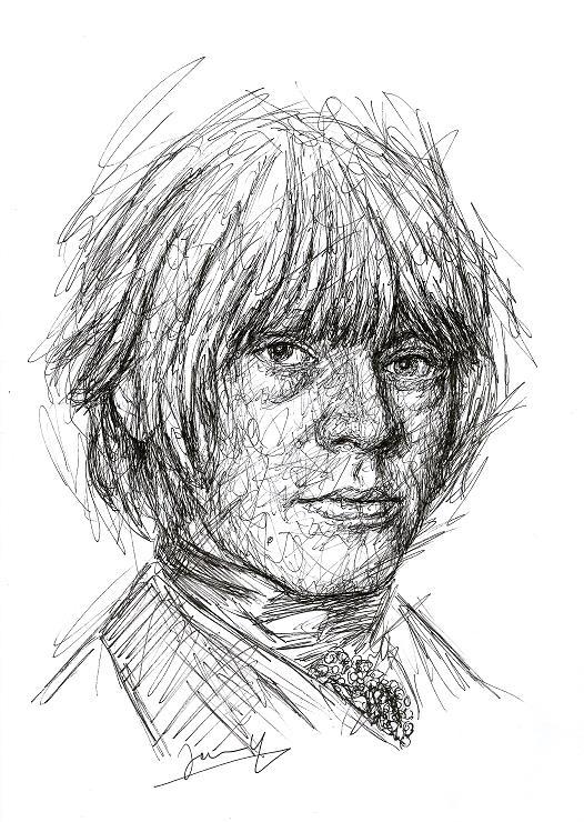 Brian Jones Rolling Stones portrait scribble