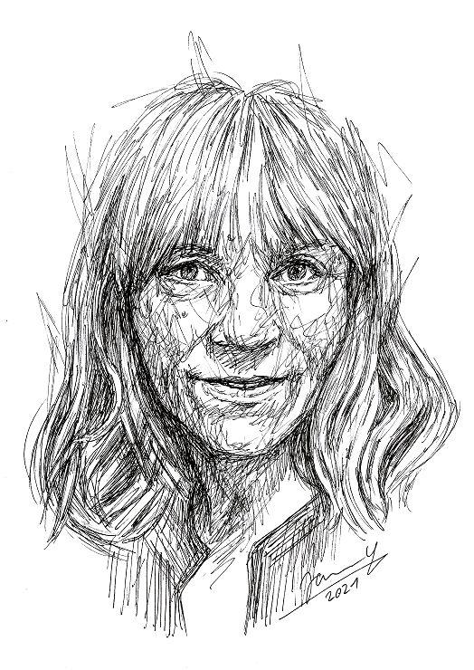 Janny Cierpka scribble art Portrait