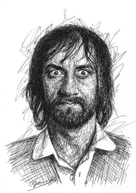 Mick Fleetwood Scribble Art Portrait